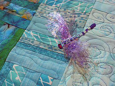 4SQS Summer Quilt Finished - dragonfly