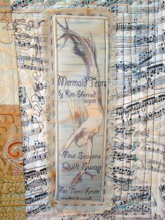 Mermaid's Tears - quilt label