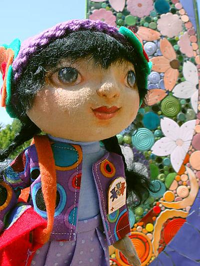 Luna at Cherry Orchard mosaic obelisk