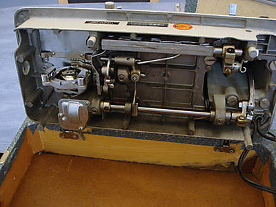 White sewing machine bottom