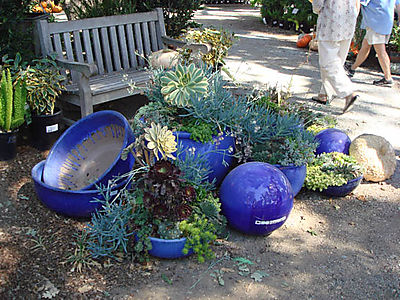 Cobalt blue pots and balls
