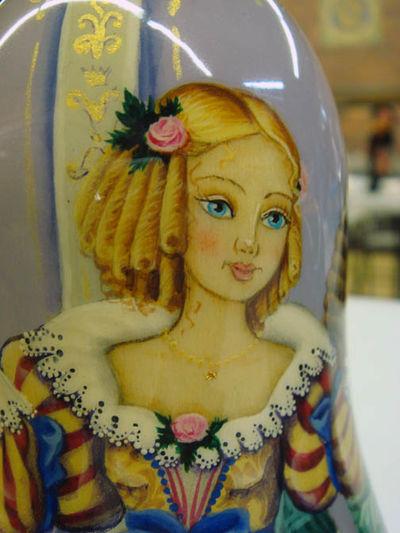 Cinderella Russian Nesting doll closeup