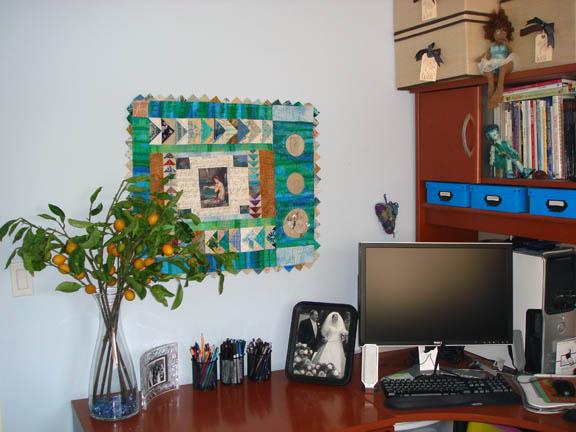 Rearranged desktop area