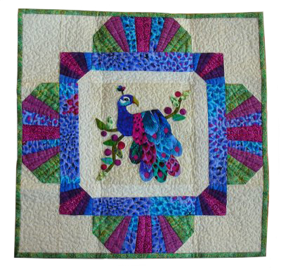 Lil's peacock quilt