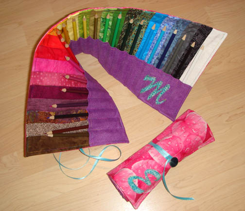 Colored Pencil Rolls for Miss M & Miss E