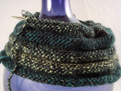 Progress on knit hat