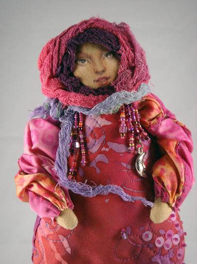 Close up Angela Jarecki doll
