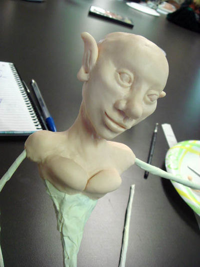 First day of sculpting