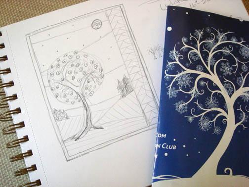 FourSeasonsQuiltSwap winter sketch