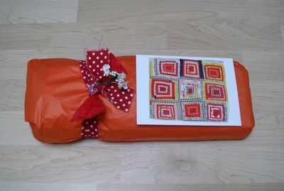 Placemat giftwrapped