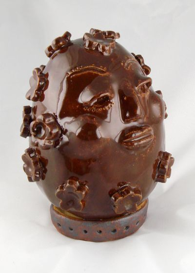 Glazed Flower Egg Head