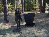 Carved miner at the RV campgrounds