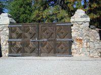Wood gates at Empire Mine