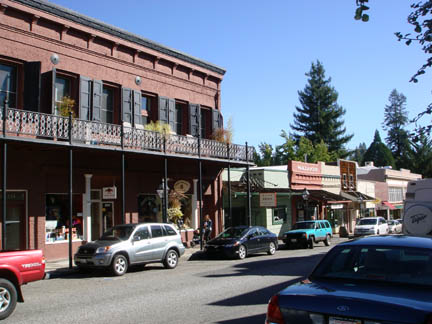 Storefronts in Nevada City