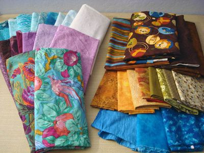 Fabrics stacks for two baby quilts