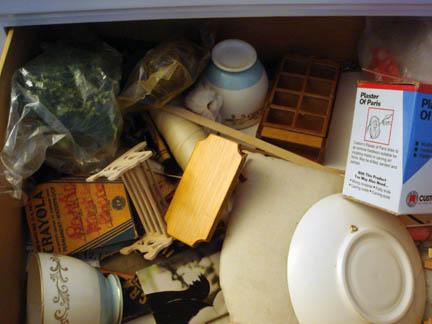Grandma's Notions Dresser - Misc goodies