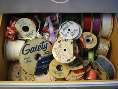 Grandma's Notions Dresser - Ribbons