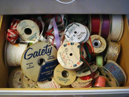 Grandma's Notions Dresser - Ribbons