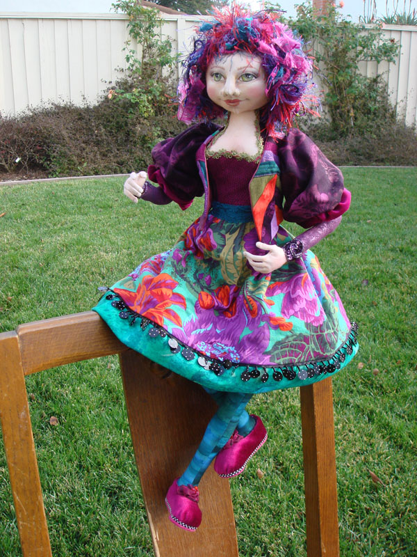 Miss Molly Cloth Doll is done!