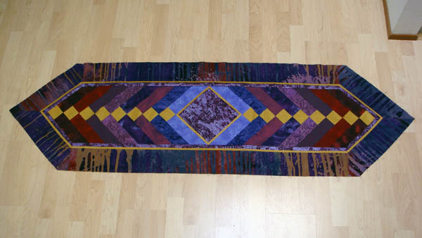 French Braid table runner top