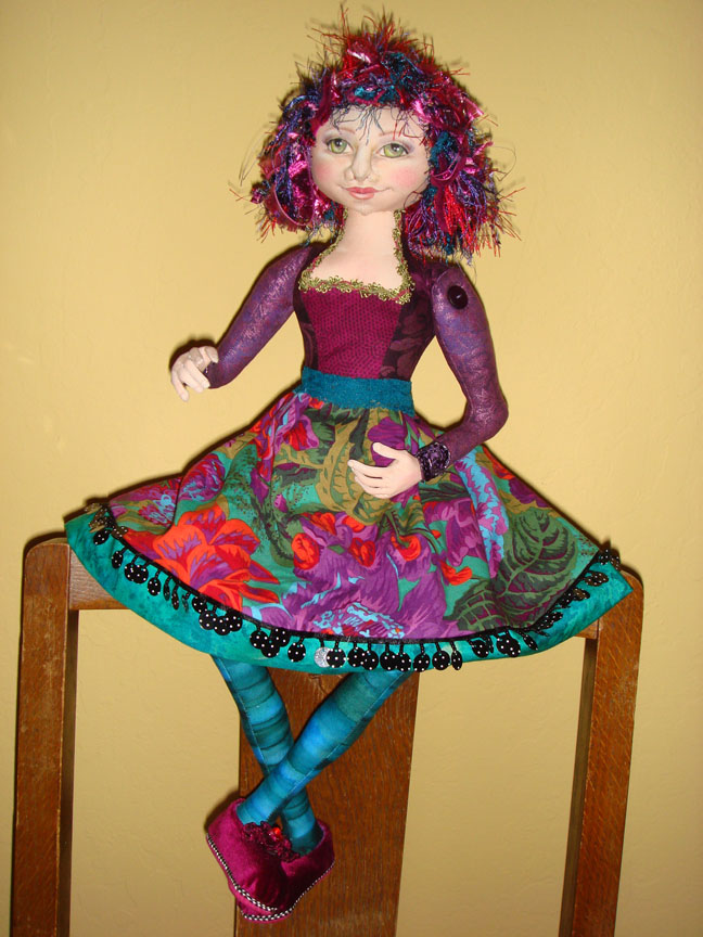 Miss Molly cloth doll has arms and a skirt now!