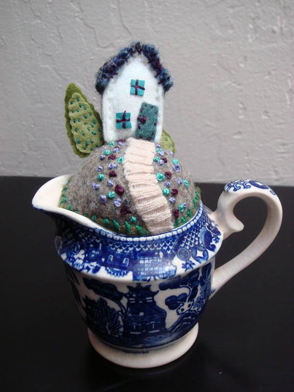 Creamer Tiny World pincushion
