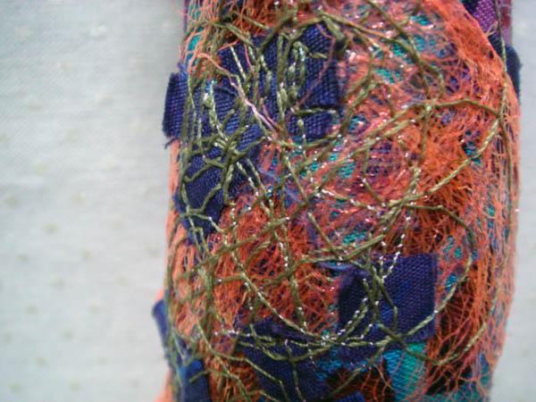Detail of embellished fibers
