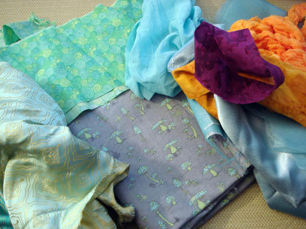Fabrics for Asterique doll