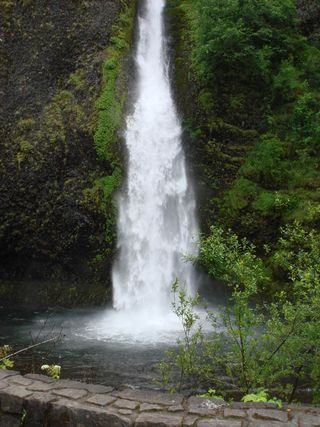 Horsetail Waterfall on Historic Route 30 Columbia River Gorge