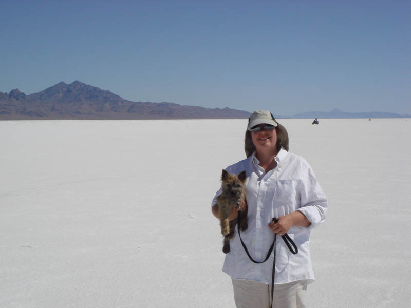 Tami and Fearghus at Bonneville pic2