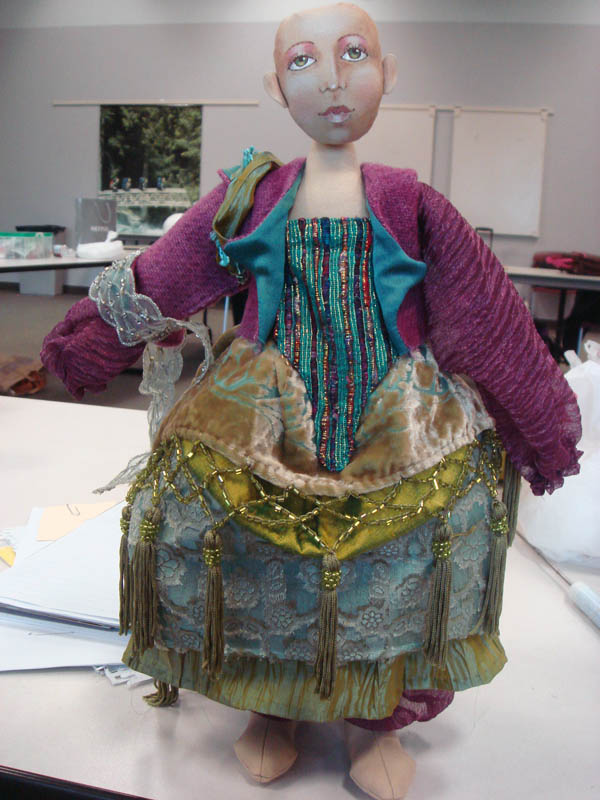 Christine Shively class doll mid progress