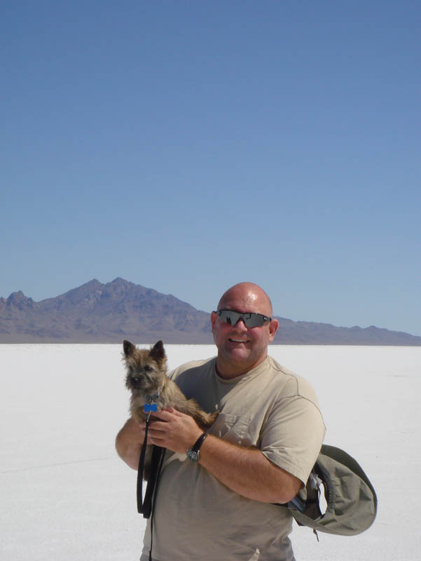 Steve and Fearghus at Bonneville