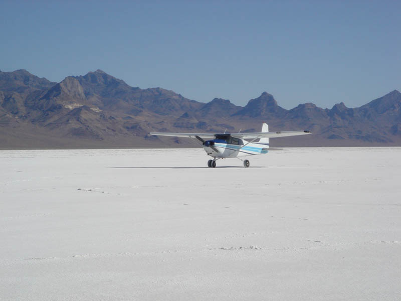 Bonneville close shot of airplane