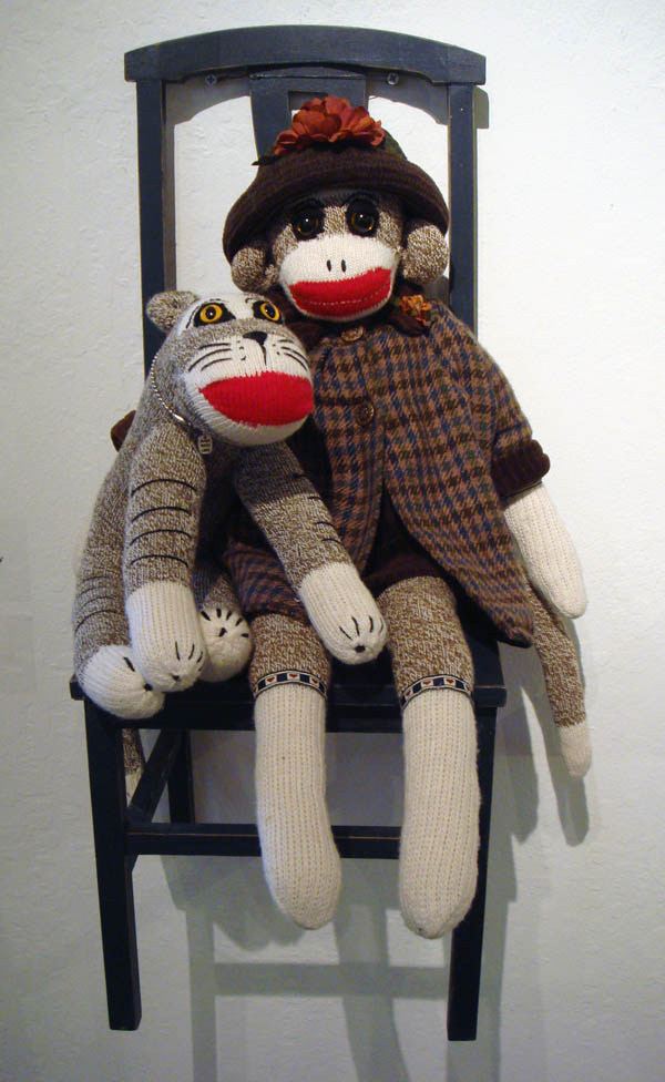 Erica Sommers Sophia the Sock Monkey and Happy Tiger
