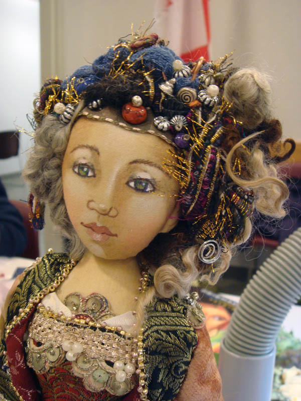 Detail of Christine Shively doll head front