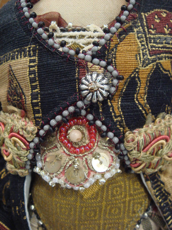 Detail of Christine Shively doll dress