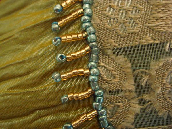 Beaded skirt detail