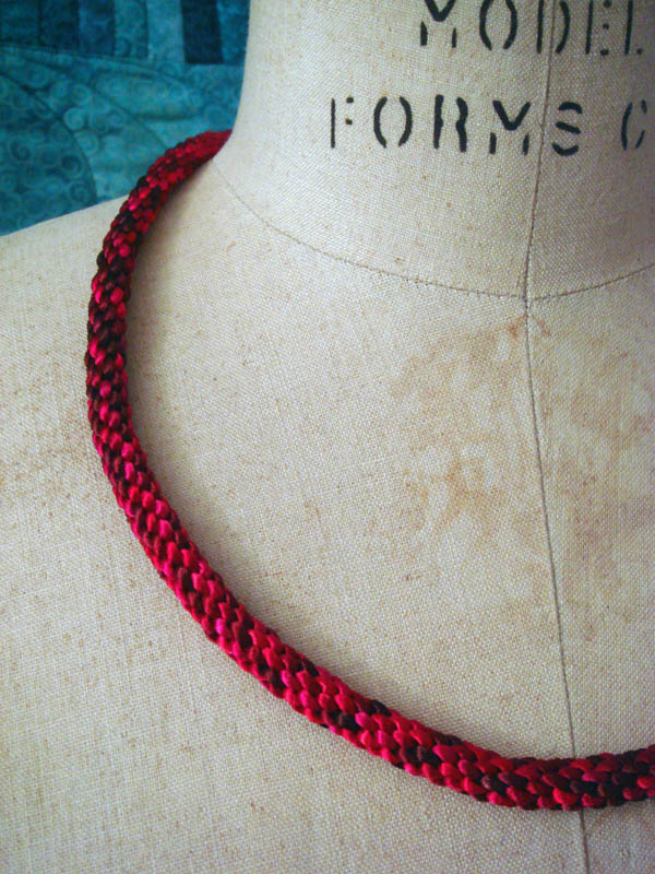 Red Kumihimo Braid
