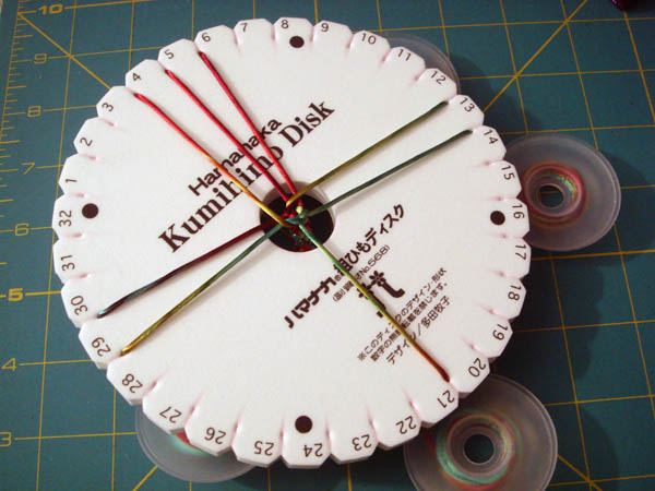 Kumihimo Disk with 8 strand braid