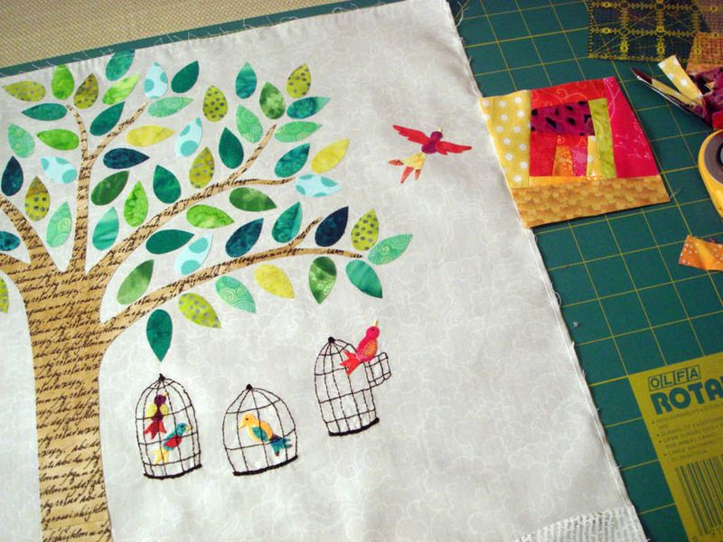 Bird cages and wonky border