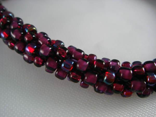 Detail of Beaded Kumihimo Bracelet