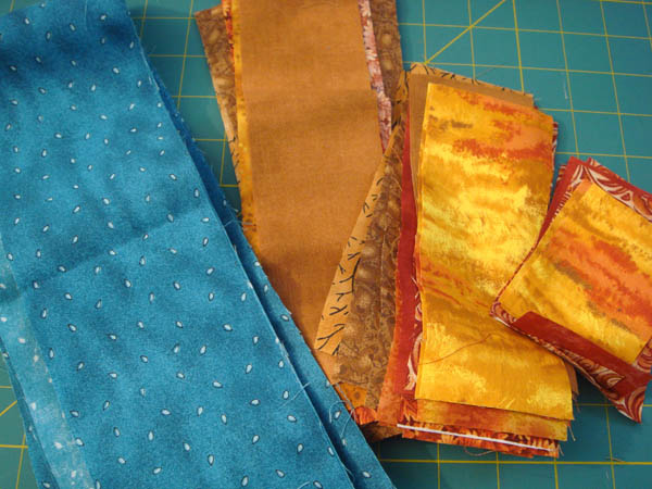 Fabrics for Shir Hadash charity quilt