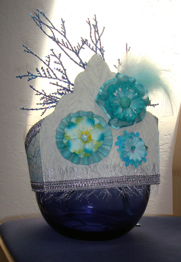 Aqua crown from Donna Perry class