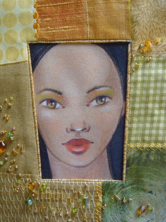 Yellow Framed Face detail