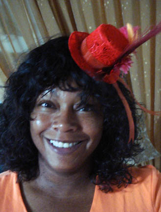 Valerie with Fascinator Hat