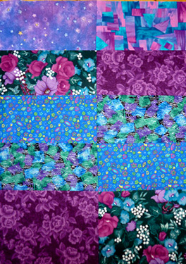 Jewel quilt fabrics2 by Alma