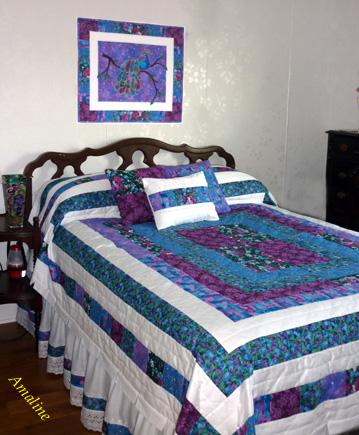 Jewel peacock-bedspread by Alma