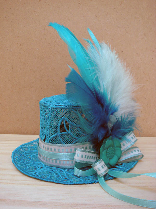 Turquoise Fascinator Hat for Miss L