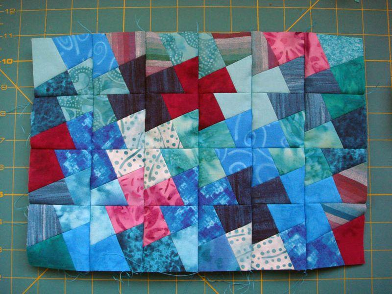 Pinwheel quilt so far