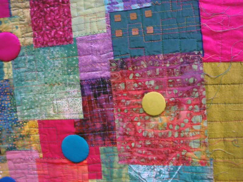 Detail of Hot Town Summer in the City by Janet McCallum